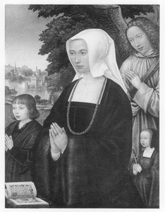 Portret van Livina van Steelant en een zoon en dochter