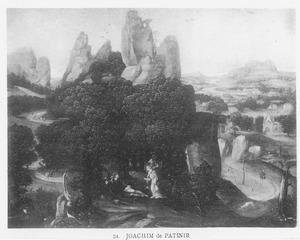 De H. Rochus in een landschap