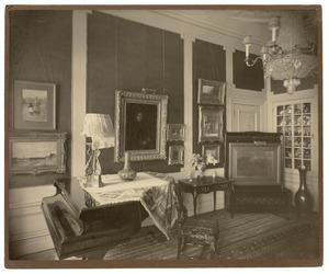 Interieur woonhuis van de verzamelaar Eduard van Dam