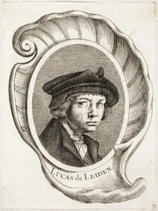 Portret van een man, genaamd Lucas van Leyden (1494-1533)