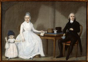 Portret van de familie van Arend van Roggen (1771-1810) en Johanna Hendrika Graadt (1773-1833)