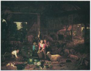 Stalinterieur met een boeren paar