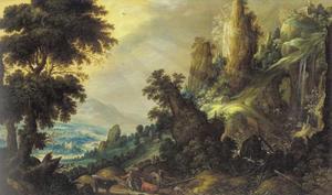 Berglandschap met koeherder