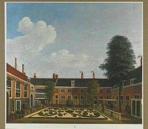 De tuin van het Leprozenhuis in Amsterdam