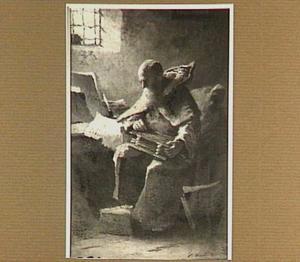 Monnik in een cel