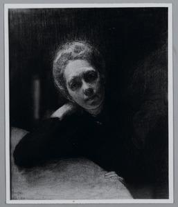 Portret van Titia van Looy-van Gelder, Maarssen Feb. '93 Hotel Koningin Emma