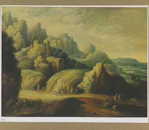 Berglandschap met herders en vee