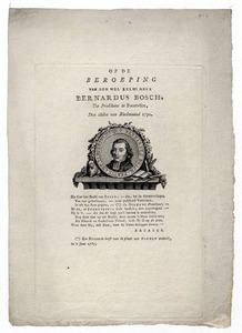 Portret van Bernardus Bosch (1746-1803)