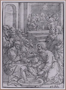De voetwassing tijdens het Laatste Avondmaal (Johannes 13:3-10)