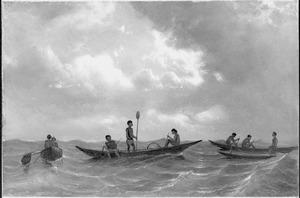 Reis van Suez naar Nagasaki via Oost-Indië: Inlandse schuitjes -Point de Calle