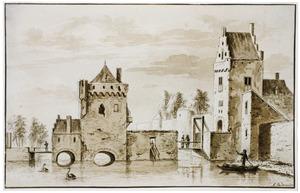 De Wittevrouwenpoort in Utrecht gezien vanuit het noorden