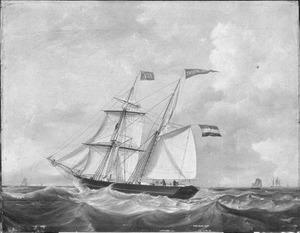 """Het schoenerbrikschip """"Theodora Gesina"""" van rederij Rietveld"""