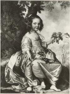 Portret van een vierjarig meisje