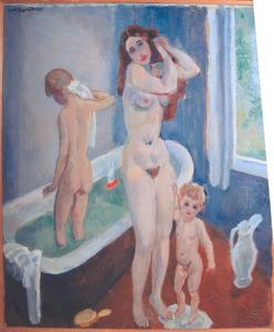 De badkamer (voorstudie)