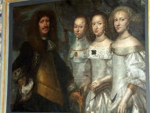 Epitaaf van Erik Rosenkrantz (1612-1681) en zijn drie vrouwen, Margrethe Skeel, Mette Rosenkrantz en Margrethe Krabbe