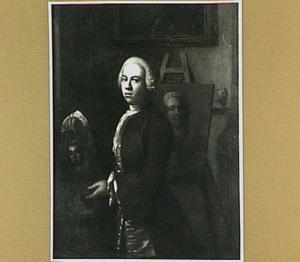 Portret van een onbekende schilder in zijn atelier