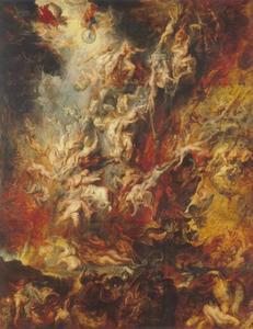 De val der verdoemden tijdens het Laatste Oordeel