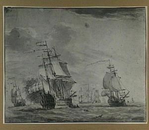 Hollandse schepen op volle zee