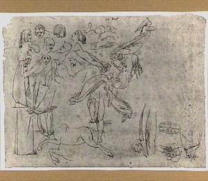 Studies van personages en koppen uit Dante's 'Divina Commedia'