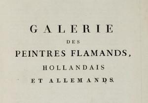 Galerie des peintres flamands, hollandais et allemands