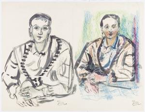Portretschetsen van kunstenares Amrey (Annemarie Balsiger)