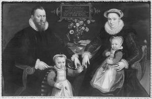 Portret van  Antonius Anselmus (1536-1611), Joanna Hooftmans (1555-1597) en hun kinderen