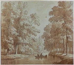 Lockhorsterbeek ofwel Luntersebeek (tegenwoordig Heiligenbergbeek) in het Lockhorsterbos bij Amersfoort