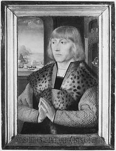 Portret van een 32-jarige stichter