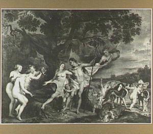 Venus tracht Adonis te weerhouden om op jacht te gaan