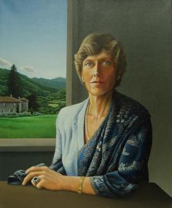 Portret van Ghislaine Jeanne Marie de Vallois (1923-1988)