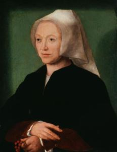 Portret van Katlijne van Mispelteeren (?-?), echtgenote van Joos van Cleve
