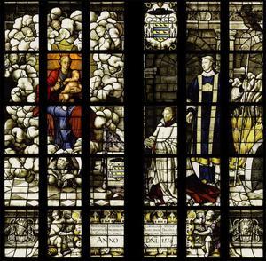 De eerste prediking van Christus met donorportret van Cornelis van Mierop (....-1572) (detail)