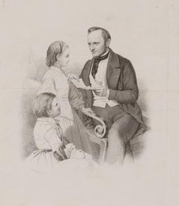 Portret van Jan Pieter Heije (1809-1876) en Sophia Heije (1851-?)
