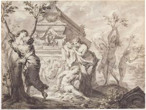 De Heliaden (zusters van Phaeton) veranderen in populieren (Metamorfosen 2:329-380)