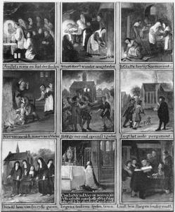Negen taferelen van het Mirakel van 1345 te Amsterdam