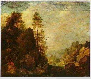 Landschap met Elia door de raven gevoed (1 Koningen 17:1-6)