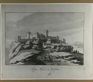 Berglandschap met Italiaanse fortificatie