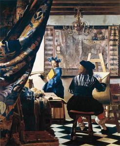 Vermeer, portret van de kunstenaar in zijn atelier