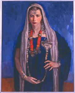 Loes, in berberkostuum