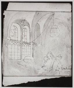 Studie van elementen uit het schilderij 'Filosoof met een open boek in studeervertrek' van Salomon Koninck