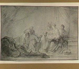 De priesters Chilkia, Achikam, Akbor, Safan en Asaja bezoeken de profetes Chulda, die de straf voor Jeruzalem voorzegt na de dood van koning Josia (2 Koningen 22:14)