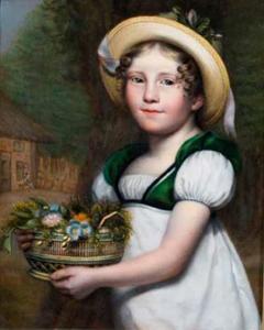 Portret van een meisje met hoed