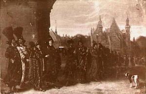 De afgezanten van de tsaar van Moscovië begeven zich naar de vergadering van de Staten Generaal, 4.11.1631