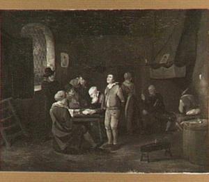 Kaartspel in een herberg