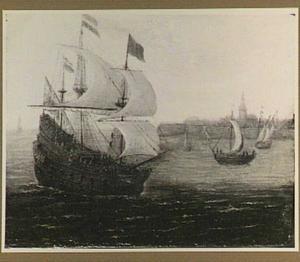 Hollands schip voor onbekende havenplaats