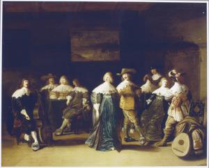 Elegant gezelschap met dansend paar