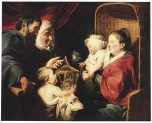 De Madonna met kind en Johannes de Doper als kind met zijn ouders