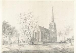 Gezicht op de  Sint-Michaëlskerk in Sint-Michielsgestel