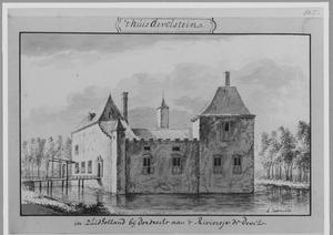 Voor- en rechterzijde van Develstein bij Zwijndrecht