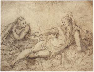 Hercules uitrustend van zijn werken